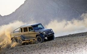 jeep, vuelta, polvo, Mercedes, Gris, máquina