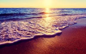 océan, ciel, nature, paysage, mer, sable, coucher du soleil, plage, soleil, DAWN