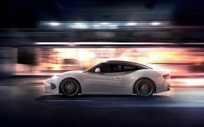 notte, auto, Spiker, accelerare, Supercars, macchina