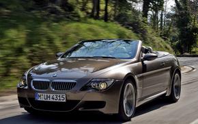 БМВ, тюнинг, дорога, кабриолет, BMW, размытость, скорость, динамика