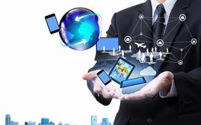 hi-tech, users, notebook, scheme, man