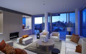 living space, style, city, interior, room, design
