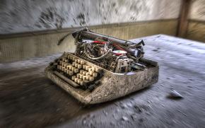 background, hi-tech, typewriter, room