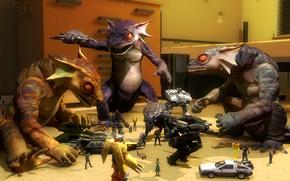 lizard, Toys