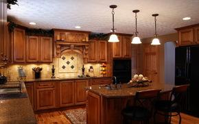 интерьер, стиль, гарнитур, дом, мебель, кухня