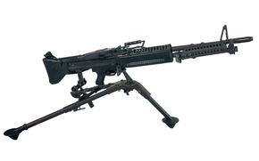 fundo, máquina de tripé, único, pistola, arma, em