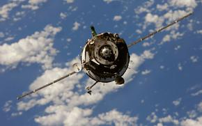 Antenna, space, docking unit