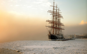 January, frost, petersburg, barque Sedov