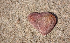 сердце, камень, песок
