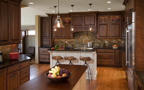 комната, интерьер, вилла, дом, кухня, дизайн, стиль