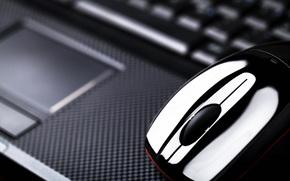 Hi-Tech, мышь, размытость, ноутбук, боке, тачпад, компьютерная, макро
