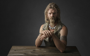 viking, portrait, studio