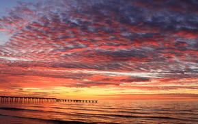 dawn, morning, sea, DAWN, PEARCE, beach