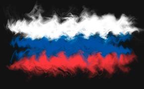 tricolore, bandiera, astrazione, Russia, fumare