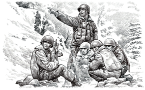 warned, soldiers, Art, the top, height, cliff, Airborne, Marines, Afghan war, rising, All, painting, Ridge, to fight, USSR., Spirits, Art. Sergeant, on, Vyacheslav Alexandrov, Afghanistan, noticed, prepared, pencil, That