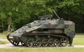 Combat, German, easy, Tracked, self-propelled mortar, aviadesantiruemaya, machine, armored troop-carrier
