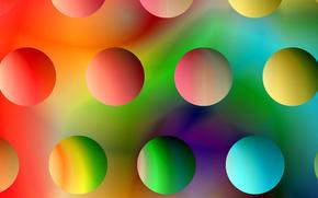 свет, радуга, шар, цвет, круг