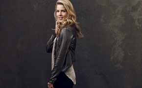 background, Emily Bett Rickards, smile, blonde, girl, arrow, actress, TV series, Felicity Smoke