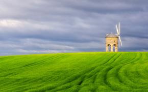 mulino, NUVOLE, cielo, Inghilterra, campo, Regno Unito