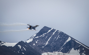 "montagna, volo, ""Fighting Falcon"", combattente"