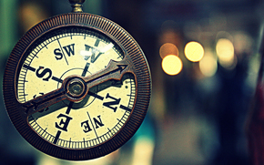 watch, Vintage, compass, Macro