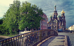 Leningrad, Peter, temple, spb, CLOUDS, petersburg, Savior on Spilled Blood, bridge, Dome