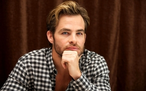 Chris Pine, actor, shirt, view, man