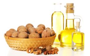 nuts, vase, oil