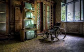 电视, 房间, 马车