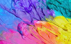 краски, разноцветные, разводы, цвета