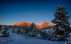 Parque Nacional de las Montañas Rocosas, Colorado, invierno, Montañas, paisaje