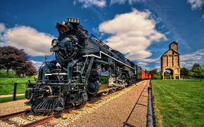 locomotive, tower, Coal, Other machinery and equipment, railroad