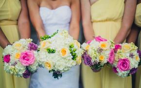 Matrimonio, Fiori, vestire, sposa, fidanzata, Mazzi