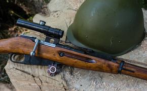 rifle, Sniper, Encomendar, Mosin, arma, capacete, fundo, furto em lojas