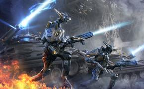 fuoco, scatti, Robot, Serbatoi, arma