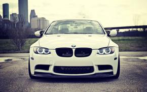 БМВ, Белая, Фары, BMW, Ангельские глазки