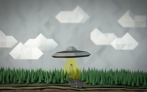 geometry, sky, UFO, abduction, figures, man