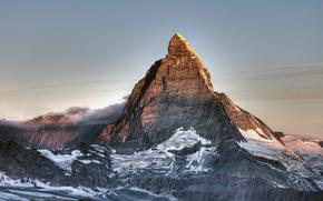 superiore, montagna, nevicata, Svizzera