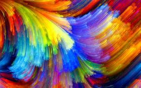 краски, радуга, свет, лучи, цвет
