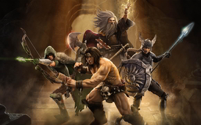 Guanto di sfida, dungeon, draghi, guerrieri