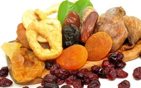 чернослив, финики, изюм, еда, полезная, сухофрукты, курага, инжир, орехи