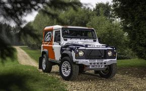 Land Rover, Front, Land Rover, Defender, background