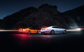 road, avtooboi, dodge, night