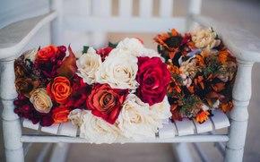 Roses, ślub, bukiet