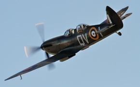 небо, британский, учебно-тренировочный самолет, двухместный