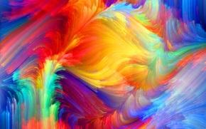 пятно, объем, узор, краски, рельеф, радуга