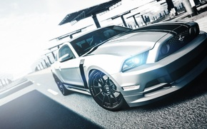 ford, mustang, boss, white, Gran Turismo, ford