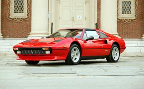 Ferrari, красная, классика, диски, раритет