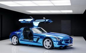 Mercedes, двери, салон., Мерседес, синий