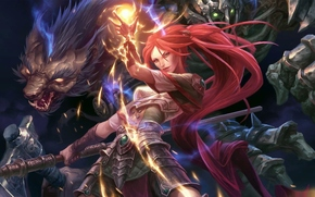 Shadows_heretic_kingdoms, girl, magic, Fighting